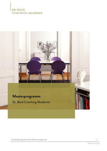 PDF mit Anmeldung. - Dr. Bock Coaching Akademie