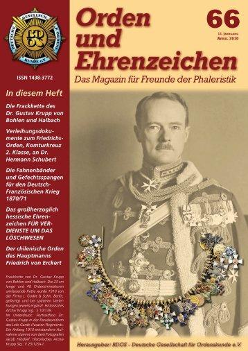 Das Magazin für Freunde der Phaleristik 66 - Deutsche Gesellschaft ...