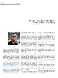 Der Sport ist in Duisburg zuhause Sport is at home in ... - Ebn24