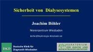Sicherheit von Dialysesystemen - Berliner DialyseSeminar