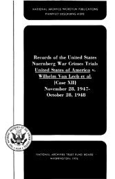 Records of the United States Nuernberg War Crimes - National ...