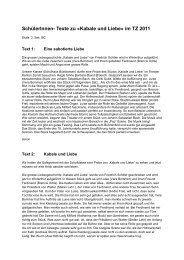 Texte zu «Kabale und Liebe - Kultur in Winterthur
