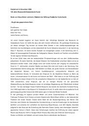 Festakt am 8. November 2006: 100 Jahre Museum - Stiftung ...