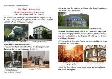 Buch Burg-Haus - Villa Hügel - Kleines Haus - bredeney