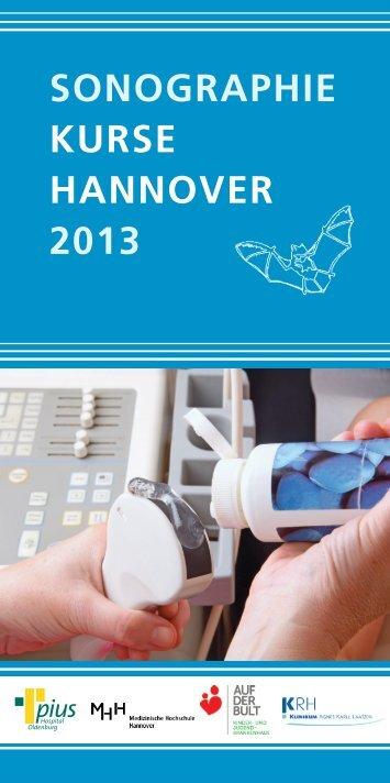 Sonographiekurse 2013 - Medizinischen Hochschule Hannover