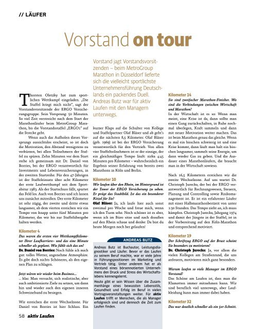 Vorstand on tour - Andreas Butz