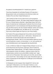 lesen - Frankfurt Green City