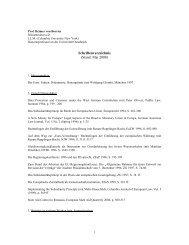 Schriftenverzeichnis - European Legal Studies Institute - Universität ...