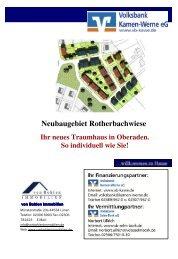 Neubaugebiet Rotherbachwiese Ihr neues Traumhaus in Oberaden. So ...