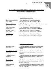 Liste der jugendlichen Sportlerinnen und Sportler ... - Stadt Buxtehude