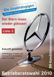 Betriebsratswahl 2010 - Die Unabhängigen Betriebsräte Sindelfingen