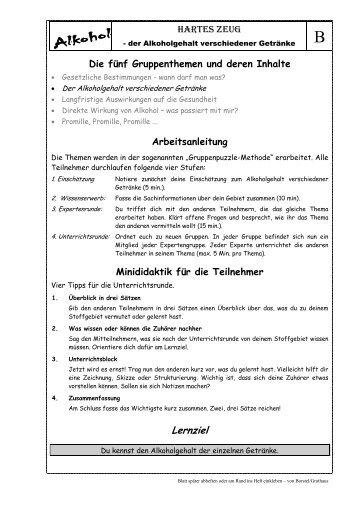 Arbeitsblatt Station Convenience oder selbst gemacht!