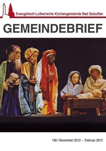 Gemeindebrief - Evangelisch-Lutherische Kirchengemeinde Bad ...