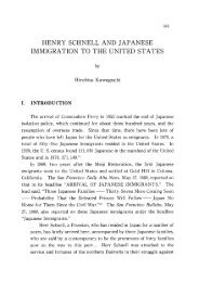 henry schnell and japanese immigration to the united states