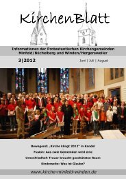 KirchenBlatt 3/2012 - Evangelische Kirche der Pfalz