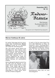 Ruderer- Blättla - Bamberger Rudergesellschaft von 1884 e.V.