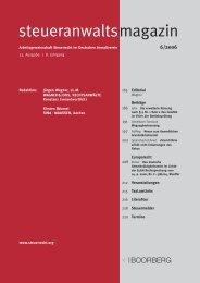 steueranwaltsmagazin Heft 6/2006 - Wagner & Joos Rechtsanwälte