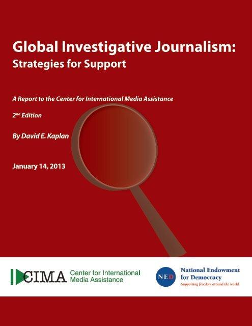 CIMA-Investigative Journalism - Dave Kaplan