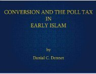 Conversion and the Poll Tax in Early Islam - The Islamic Search ...