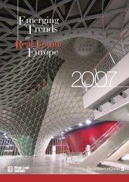 Emerging Trends in Real Estate ® 2007 Europe - Urban Land Institute