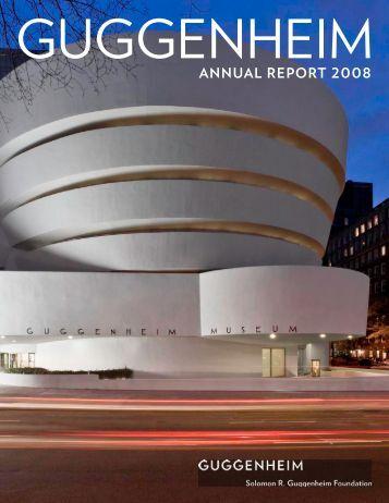 AnnuAl RepoRt 2008 - Guggenheim Museum