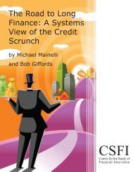 The Road to Long Finance: A Systems View of the Credit Scrunch