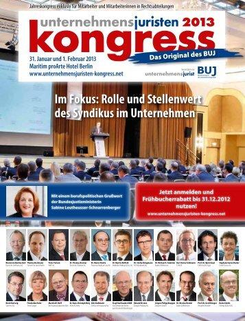 Kongress-Programm - Unternehmensjuristen-Kongress