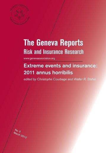 Extreme events and insurance: 2011 annus horribilis - The Geneva ...