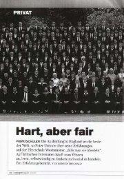 Hart, aber Fair - Internat England, Internatsaufenthalt in Großbritannien