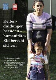 Erfahrungsbericht zur Praxis der ... - Aktion Bleiberecht