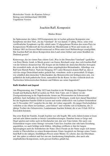 Raff Artikel für den Historischen Verein von Marc Römer