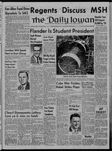 April 11 - The Daily Iowan Historic Newspapers - University of Iowa