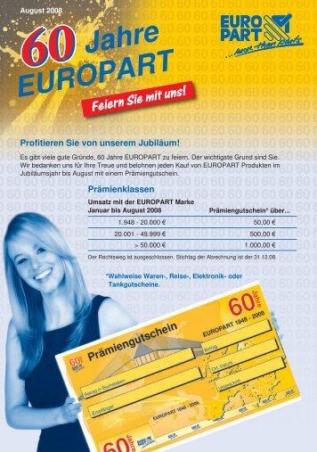 Jahre EUROPART Feiern Sie mit uns!