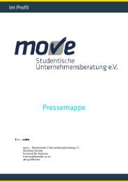 move – Studentische Unternehmensberatung e.V. Christian Demme ...