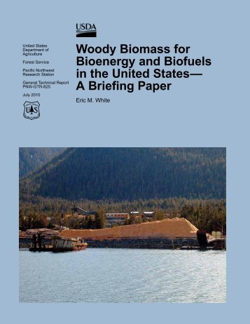 Woody biomass for bioenergy and biofuels in the - Forest Science ...