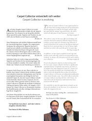 This issue of Carpet Collector is once again packed to - beim SN ...