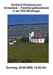 Herzliche Einladung zum Erntedank - Freie Evangelische Gemeinde ...