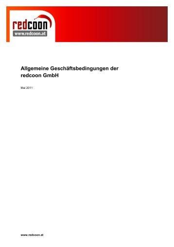 Allgemeine Geschäftsbedingungen der redcoon GmbH