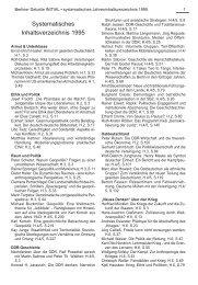 Systematisches Inhaltsverzeichnis 1995 - Berliner Debatte