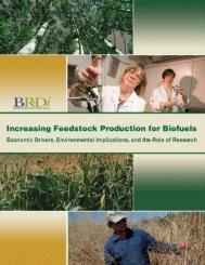 Increasing Feedstock Production for Biofuels - Environmental ...