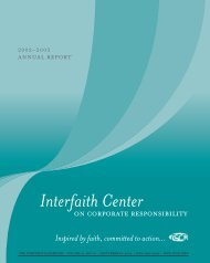 Members - Interfaith Center on Corporate Responsibility