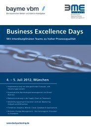 Business Excellence Days Mit interdisziplinären Teams ... - partnering