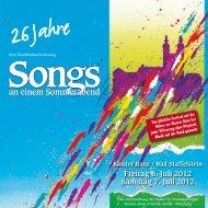 Programmheft 2012 - Songs an einem Sommerabend