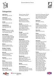 Deltagerliste