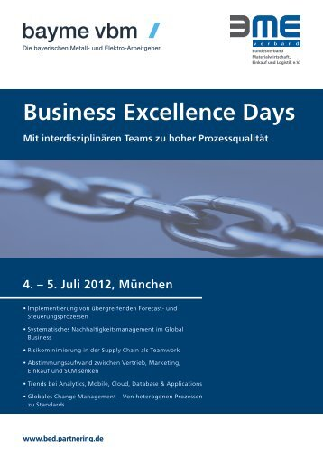 Business Excellence Days - business-partnering