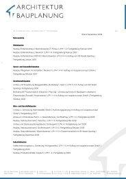 Referenzliste - architektur + bauplanung | dipl.-ing. architekt oliver ...