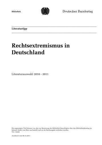 Rechtsextremismus in Deutschland - Deutscher Bundestag