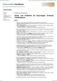 Publikationen 2010 - Zentrum für Neurologie und Psychiatrie