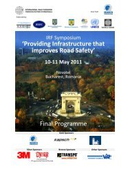 Providing Infrastructure that improves Road Safety - International ...