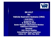 EN 1317 for Vehicle Restraint Systems (VRS) - CRP